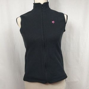 Lilly Pulitzer Black Fleece Full Zip Women's Vest